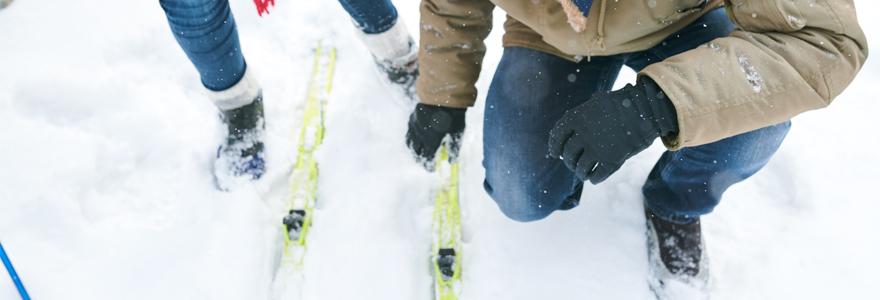 fixations de mes skis de rando